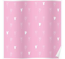 Chamomile white and lilac Poster