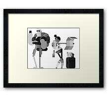 Lost Tourists Framed Print