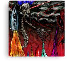 Spine man fighting! Canvas Print