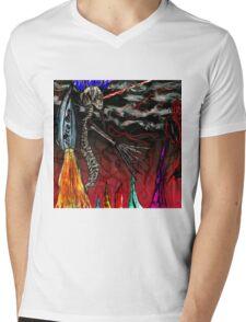 Spine man fighting! Mens V-Neck T-Shirt