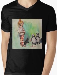 Penguin princess Mens V-Neck T-Shirt