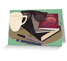 Travellers Side Table Greeting Card