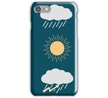 icon set weather contours  iPhone Case/Skin