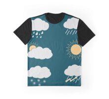 icon set weather contours  Graphic T-Shirt