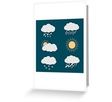 icon set weather contours  Greeting Card