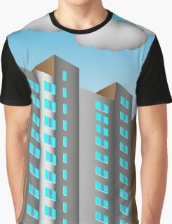City background is made in perspective  Graphic T-Shirt