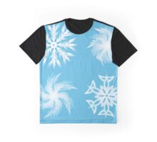 set of snowflakes white outline illustrations  Graphic T-Shirt