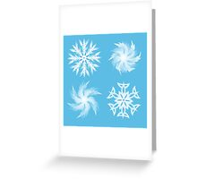 set of snowflakes white outline illustrations  Greeting Card