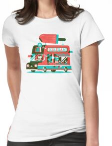 Ice-cream Truck Womens Fitted T-Shirt