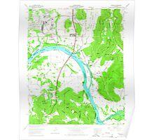 USGS TOPO Map Alabama AL Farley 303818 1964 24000 Poster
