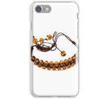 bracelet with orange beads isolated iPhone Case/Skin