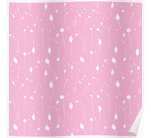 Doodle flowers lilac Poster