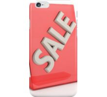 hot sale sign isolated on white background iPhone Case/Skin