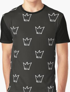 Monochrome pattern with white crowns Graphic T-Shirt