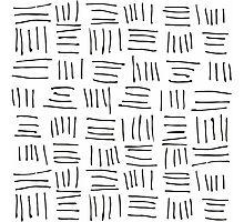 Doodle sticks on white Photographic Print