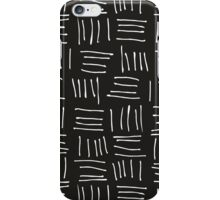 Doodle sticks on black iPhone Case/Skin