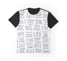 Doodle sticks on white Graphic T-Shirt