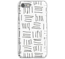 Doodle sticks on white iPhone Case/Skin
