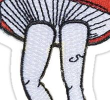 valfre mushroom patch sticker Sticker