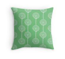 Windmills - Mint Green Throw Pillow