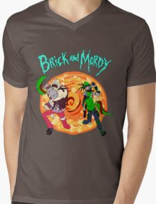 brick and mordy Mens V-Neck T-Shirt