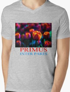 Red Tulip - Primus Inter Pares Mens V-Neck T-Shirt