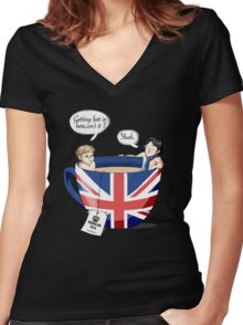 Sherlock, a quick summary Women's Fitted V-Neck T-Shirt