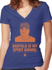 Bartolo Is My Spirit Animal Women's Fitted V-Neck T-Shirt