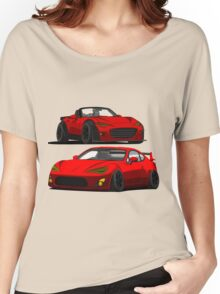 Mazda Miata MX 5 and Gt 86 Women's Relaxed Fit T-Shirt