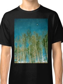 Beautiful summer in the forest. Reflection of birch in a lake Classic T-Shirt