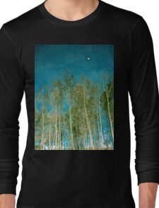 Beautiful summer in the forest. Reflection of birch in a lake Long Sleeve T-Shirt