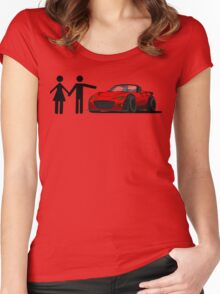 Miata MX-5 Love Women's Fitted Scoop T-Shirt
