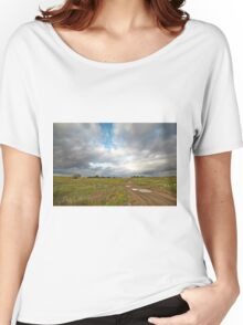 Country road and clouds Women's Relaxed Fit T-Shirt