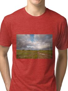 Country road and clouds Tri-blend T-Shirt
