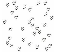 Monochrome hearts Photographic Print