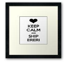 KEEP CALM AND SHIP ERERI Framed Print