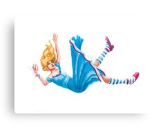 Alice falling down - Series: Who is your Hero?  Canvas Print