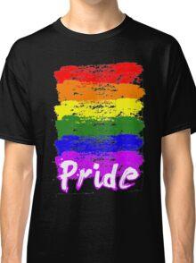 Rainbow LGB Brush Pride LGBT Pride Parade T-shirt Classic T-Shirt