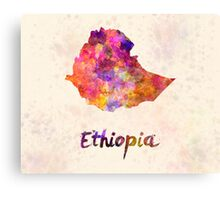 Ethiopia in watercolor Canvas Print