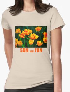 Yellow Tulips - Sun And Fun Womens Fitted T-Shirt
