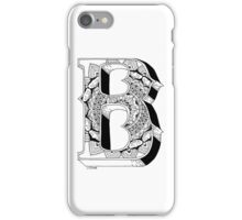 B - Mandala N°1 inside Alphabet N°1 iPhone Case/Skin