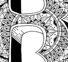 B - Mandala N°1 inside Alphabet N°1 Sticker