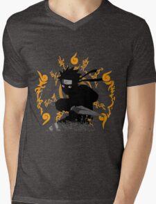 black ninja Mens V-Neck T-Shirt