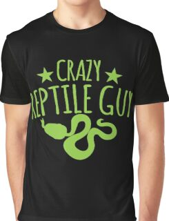 Crazy Reptile guy Graphic T-Shirt