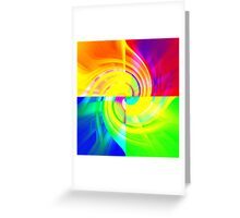 Fabulous Four Colours Greeting Card