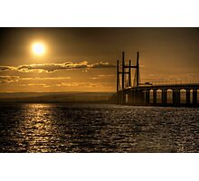 Severn Bridge Sunset Photographic Print