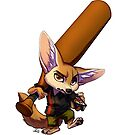 Finnick with bat by jccat