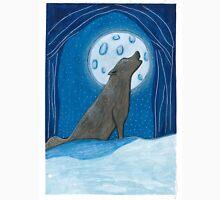 Wolf howling @ moon Unisex T-Shirt
