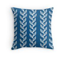 Seaweed - Blue Throw Pillow