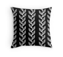 Seaweed - Black Throw Pillow